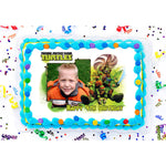 Teenage Mutant Ninja Turtles Photo Frame Edible Image Cake Topper