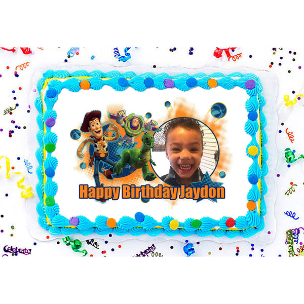 Toy Story Planetary Party Photo Frame Edible Image Cake Topper