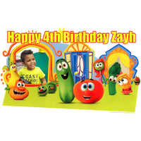 VeggieTales Listen, Learn, Love! Photo Frame Edible Image Cake Topper