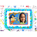 Wonder Woman Golden Lasso Photo Frame Edible Image Cake Topper