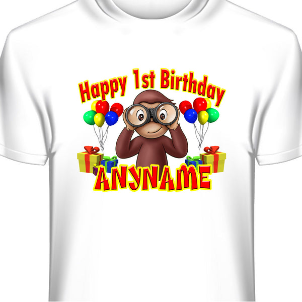 Curious George Custom Birthday T-Shirt