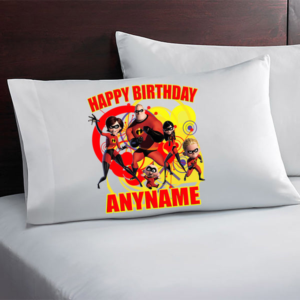 The Incredibles Personalized Pillow Case
