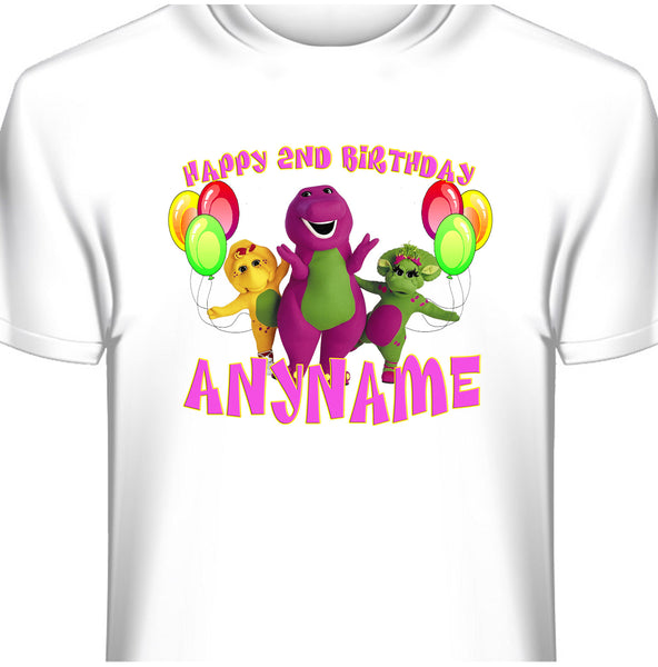 Barney Personalized Birthday T-Shirt