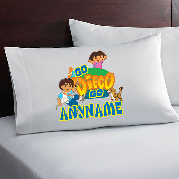 Go Diego Go & Dora The Explorer Custom Pillow Case