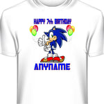 Sonic The Hedgehog Personalized Birthday T-Shirt