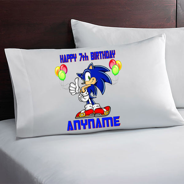 Sonic The Hedgehog Personalized Birthday Pillow Case