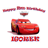 Cars Lightning Mcqueen Personalized Birthday Pillow Case