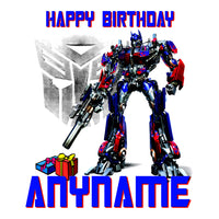 Transformers Optimus Prime Custom Birthday T-Shirt