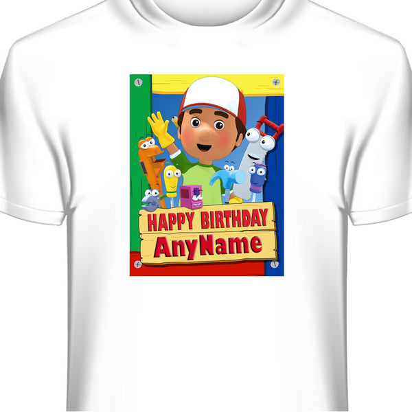 Personalized Custom Handy Manny Birthday T-Shirt