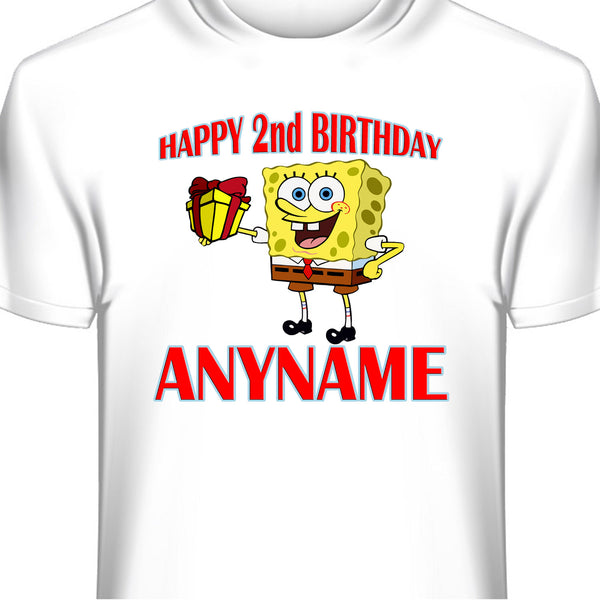 Personalized Custom Spongebob  Birthday T-Shirt