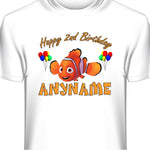 Personalized Custom Finding Nemo Birthday T-Shirt