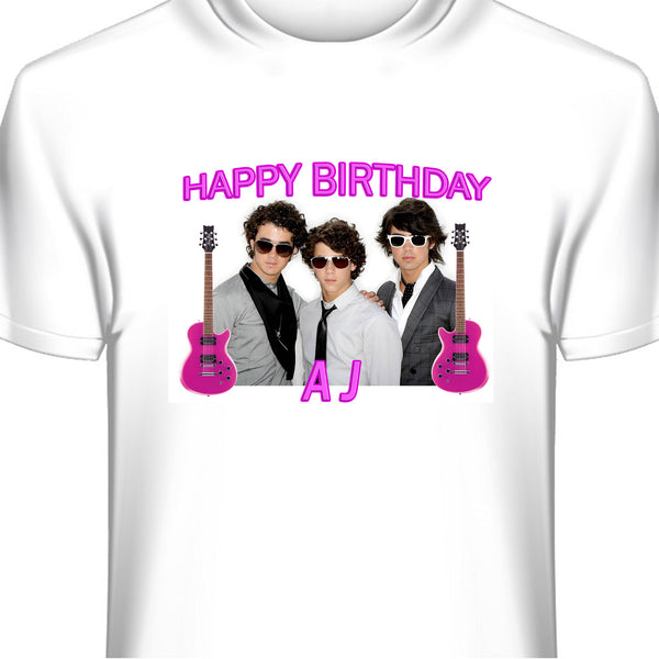 Personalized Jonas Brothers Birthday T-Shirt