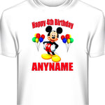 Personalized Custom Mickey Mouse Birthday T-Shirt