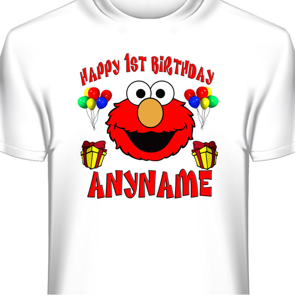 Custom Elmo Sesame Street Birthday T-Shirt