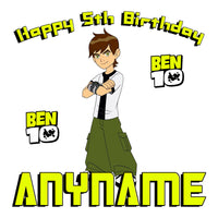 Personalized Ben 10  Birthday Pillow Case