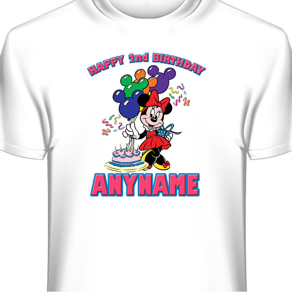 Minnie Mouse Personalized Custom Birthday T-Shirt