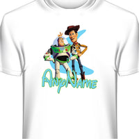 Buzz & Woody Toy Story Personalized Custom T-Shirt