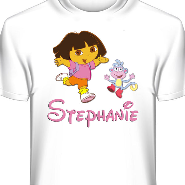 Dora and Boots Personalized Custom T-Shirt