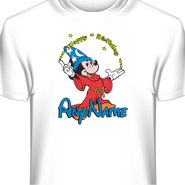 Mickey Mouse Sorcerer Custom Birthday T-Shirt