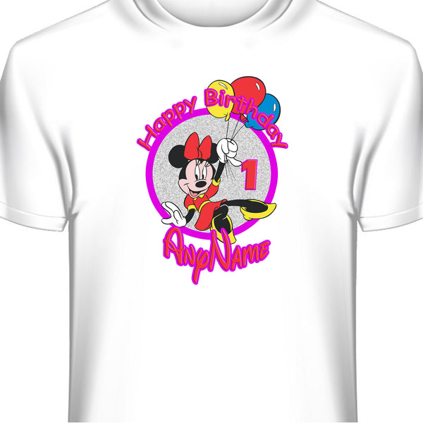 Minnie Mouse Personalized Birthday T-Shirt