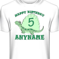 Dinosaur Personalized and Custom Birthday T-Shirt