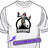 Fortnite Chomp Sr. Skin T-Shirt Personalized with Your Custom Name