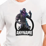Gamer's Delight - Raven Character Skin T-Shirt Personalized with Your Custom Name
