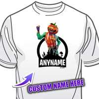 Fortnite Tomato Head Character Skin T-Shirt Personalized with Your Custom Name