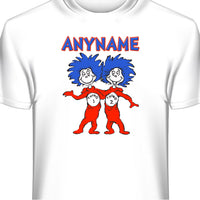 Dr Seuss Thing 1 and 2 Custom T-Shirt