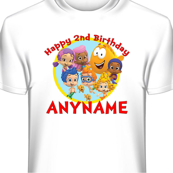Bubble Guppies Custom Birthday T-Shirt