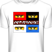 Ninjago Personalized and Custom Printed T-Shirt