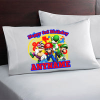 Super Mario Bros Custom Birthday Pillow Case