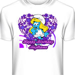 Smurfette Personalized Birthday T-Shirt