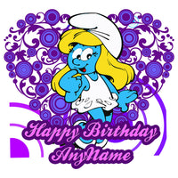 Smurfette Personalized Birthday Pillow Case