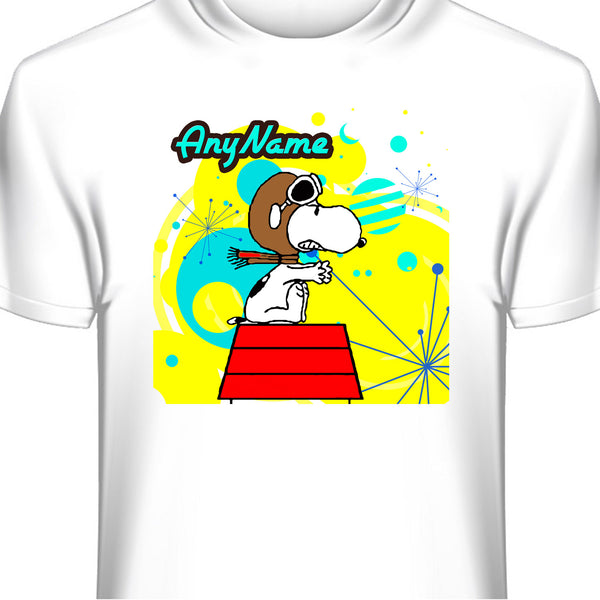 Snoopy Red Baron Personalized and Custom T-Shirt