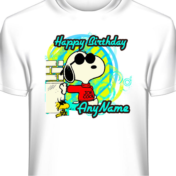 Snoopy Joe Cool Personalized Birthday T-Shirt