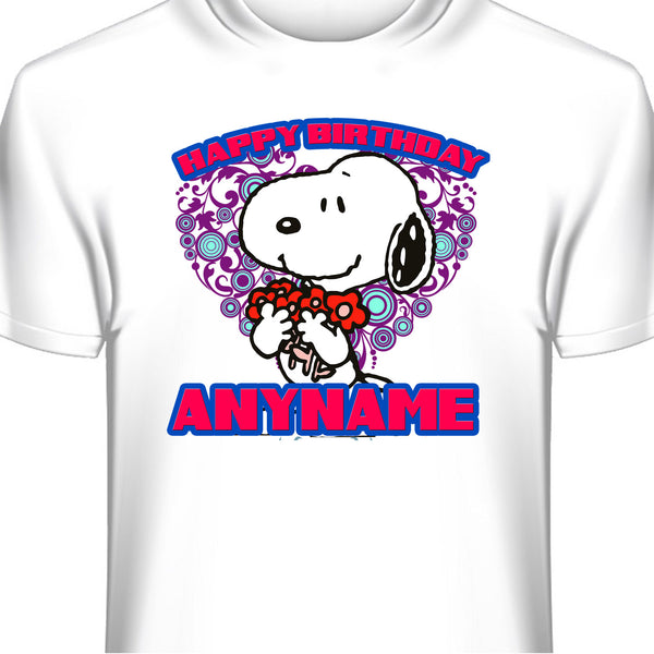 Snoopy Personalized Birthday T-Shirt