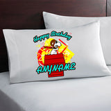 Snoopy Red Baron Personalized Birthday Pillow Case