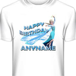 Personalized Birthday T-shirt featuring Elsa from Frozen