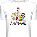 Charlie Brown Peanuts Gang Personalized and Custom T-Shirt with Your Name