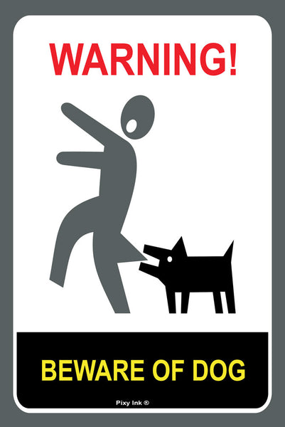 Warning - Beware of Dog Metal Sign