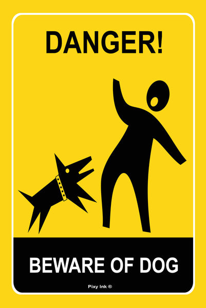 Danger - Beware of Dog Metal Safety Sign