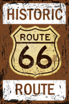 Historic Rout 66 Rugged Retro Metal Street Sign