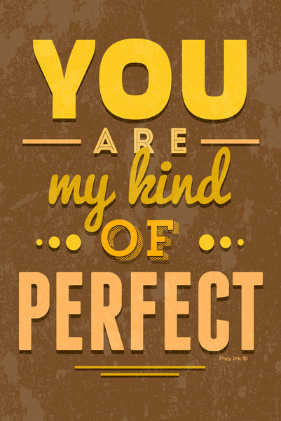 You Are My Kind Of Perfect Vintage Decorative Metal Sign