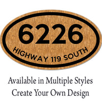 Personalized and Custom Made House Address Metal Plaque
