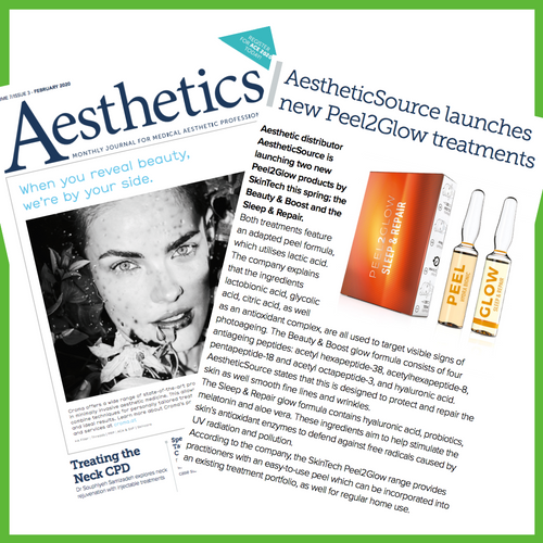 PEEL2GLOW Launch In Aesthetics Journal