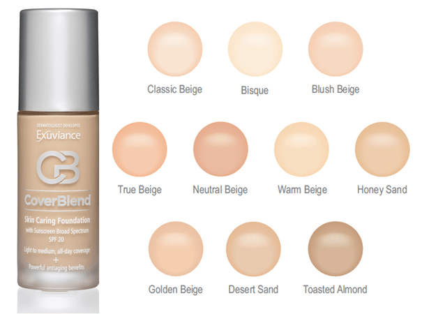 Exuviance® Treatment Makeup Skin Caring Foundation SPF 20: Toasted Almond