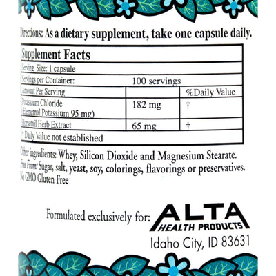 Alta Health Products Potassium Chloride Plus Silica - 100 Capsules