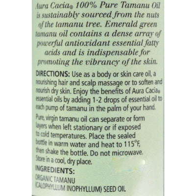 Aura Cacia Natural Skin Care Oil Tamanu - 1 Fl Oz