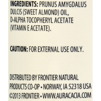 Aura Cacia Natural Skin Care Oil Sweet Almond - 16 Fl Oz